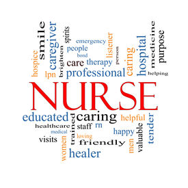 picture of rn  - Nurse Word Cloud Concept with great terms such as rn care brighten caring helpful and more - JPG