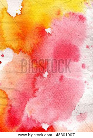 Abstract watercolor background on grunge paper texture