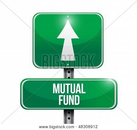 Mutual Fund Road Sign Illustration Design