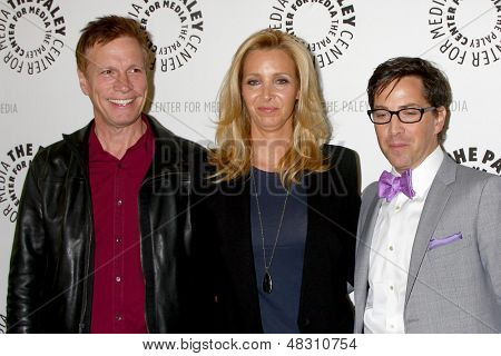 LOS ANGELES - JUL 16:  Don Roos, Lisa Kudrow, Dan Bucatinsky arrives at