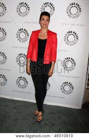 """LOS ANGELES - JUL 16:  Bellamy Young arrives at  """"An Evening With Web Therapy: The Craze Continues..."""" at the Paley Center for Media on July 16, 2013 in Beverly Hills, CA"""