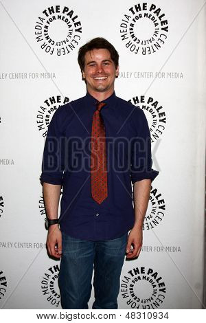 "LOS ANGELES - JUL 16:  Jason Ritter arrives at  ""An Evening With Web Therapy: The Craze Continues..."" at the Paley Center for Media on July 16, 2013 in Beverly Hills, CA"