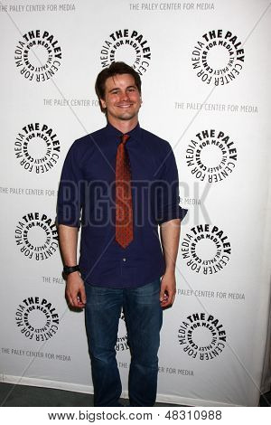 """LOS ANGELES - JUL 16:  Jason Ritter arrives at  """"An Evening With Web Therapy: The Craze Continues..."""" at the Paley Center for Media on July 16, 2013 in Beverly Hills, CA"""