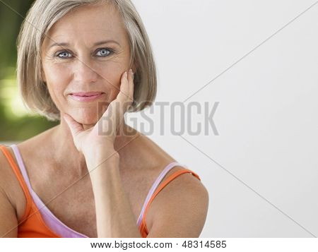 Portrait of a smiling middle aged woman