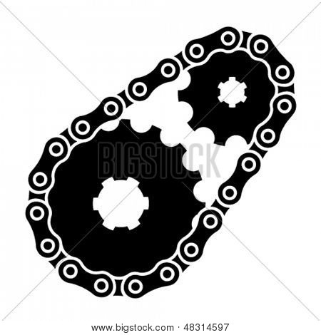 vector industrial chain sprocket silhouette