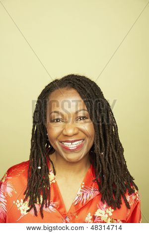 Portrait of middle-aged woman smiling