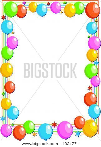 clip art balloons and confetti. border free clip art party