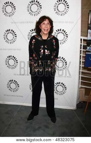 "LOS ANGELES - JUL 16:  Lily Tomlin arrives at  ""An Evening With Web Therapy: The Craze Continues..."" at the Paley Center for Media on July 16, 2013 in Beverly Hills, CA"