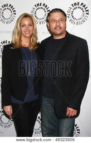 """LOS ANGELES - JUL 16:  Lisa Kudrow, Gary Levine arrives at  """"An Evening With Web Therapy: The Craze Continues..."""" at the Paley Center for Media on July 16, 2013 in Beverly Hills, CA"""