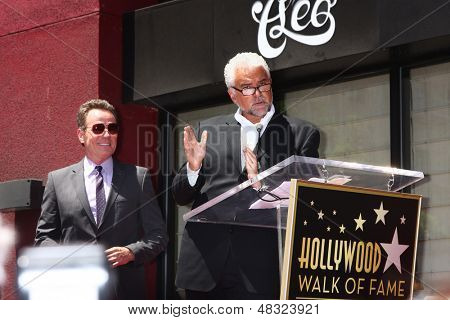 LOS ANGELES - JUL 16:  Bryan Cranston, John O'Hurley at the Hollywood Walk of Fame Star Ceremony for Bryan Cranston at the Redbury Hotel on July 16, 2013 in Los Angeles, CA