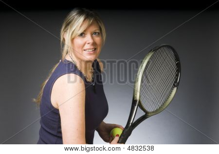 Woman Tennis Player Happy