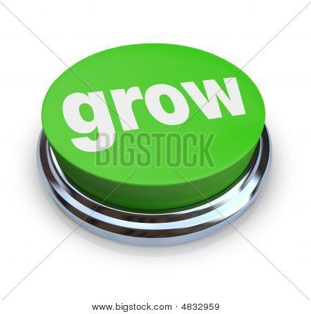 Crecer botón - verde