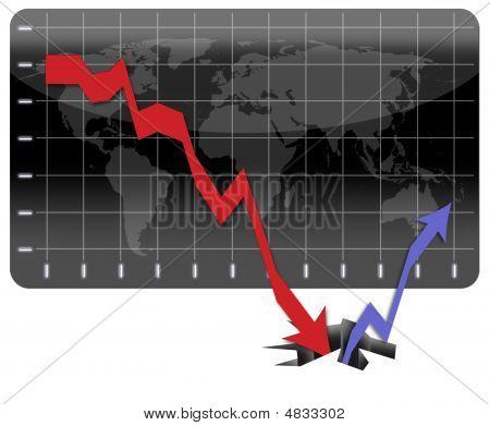 Herstellende is van de wereldwijde economische Crisis
