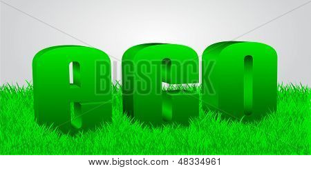 word eco in a grass