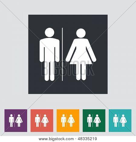 Wc Single Icon.