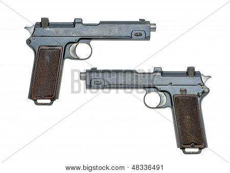 austrian pistol Steyr 1916  on a white background