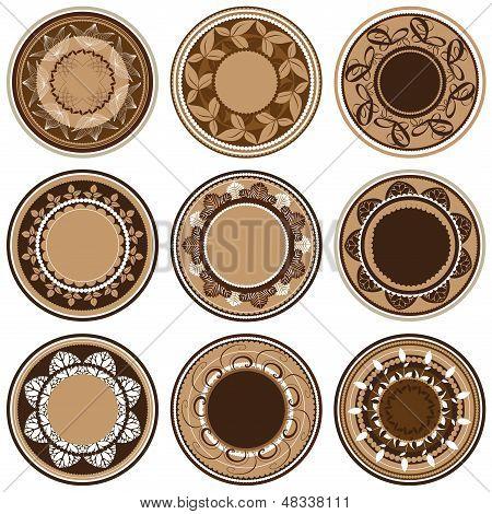 Round ornament pattern. Vintage decorative elements. Vector Illustration