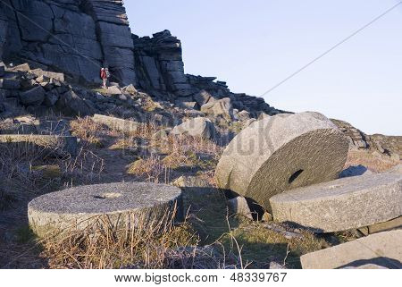 Millstones, Peak District, UK