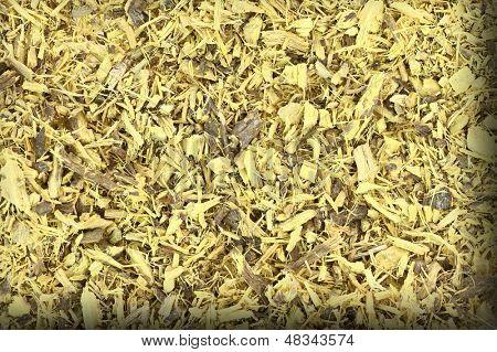 Close up of dried liquorice