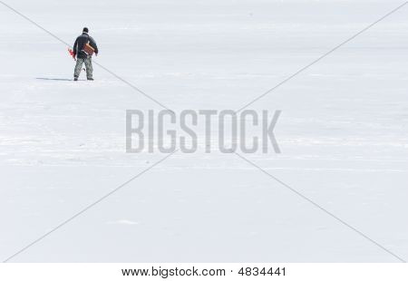 Fisherman On Ice