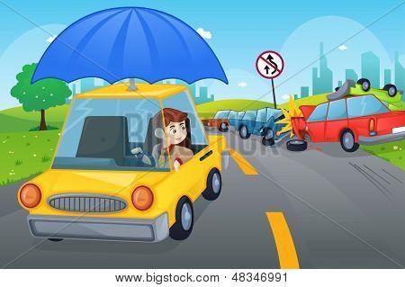 Concepto de seguros de coche