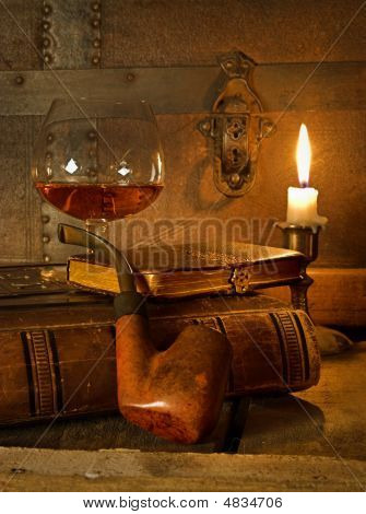Cognac And Pipe