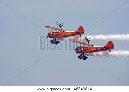Biplane Wing Walkers Display
