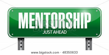 Mentorship Road Sign Illustration Design
