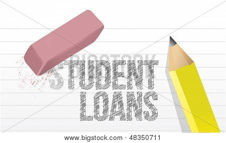 Erasing Student Loans Concept Illustration Design