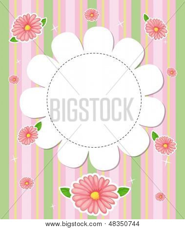 Illustration of a flowery designed stationery