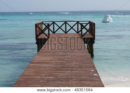 beach bridge,Cancun, Mexico