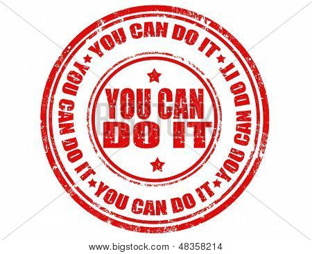 You Can Do It-stamp