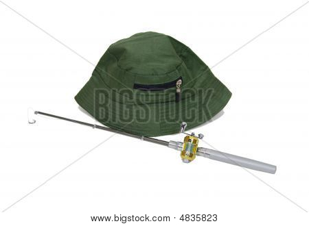 Fishing Pole And Hat