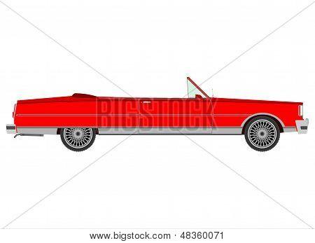 Red Retro Cabriolet.
