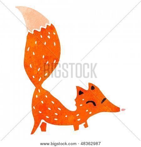 retro cartoon little fox