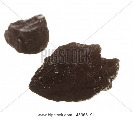 Coal Lumps Carbon Nugget Isolated On White