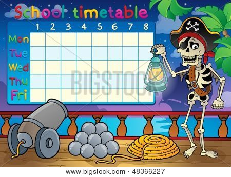 School timetable topic image 9 - eps10 vector illustration.