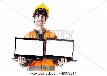 Engineer With Laptops