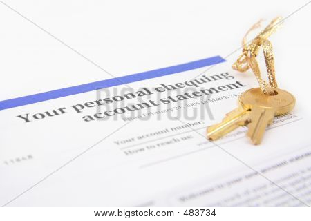 Bank Account Statement And Golden Key