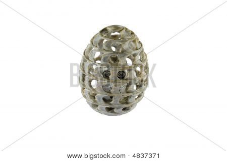Stone Egg With Owl Inside
