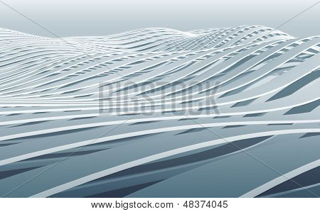 Abstract 3D Wave Stripes Background