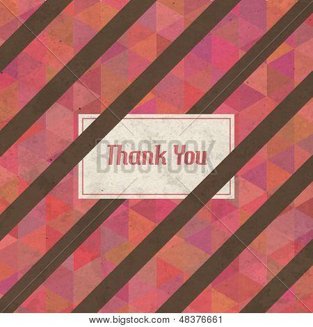 Vintage Retro Thank You Vector Card
