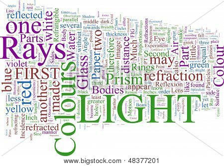 Word Cloud based on Newton's 'Opticks'