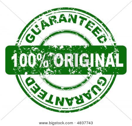 Stamp With 100% Guaranteed, Vector