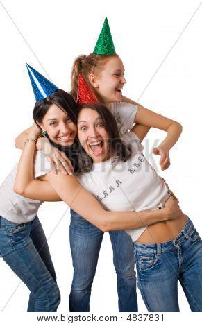 Crazy Girls In Fool Caps