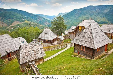 Mecavnik of Drvengrad village on Mokra Gora mountain, Serbia.