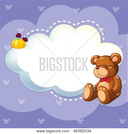 Illustration of a stationery with a brown bear