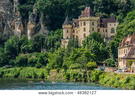 LA ROQUE GAGEAC, FRANCE - JUNE 22: exterior of Chateau de la Malartrie village of La Roque Gageac on June 22th, 2012 at Dordogne Perigord France