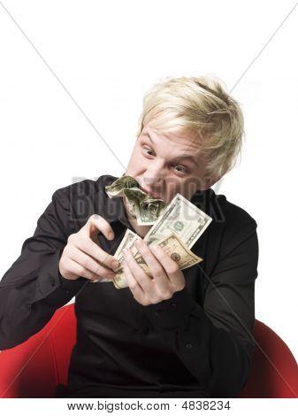 Man Eating Money