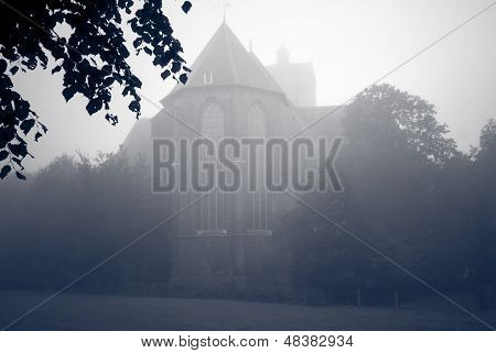 Foggy Morning Around The Church